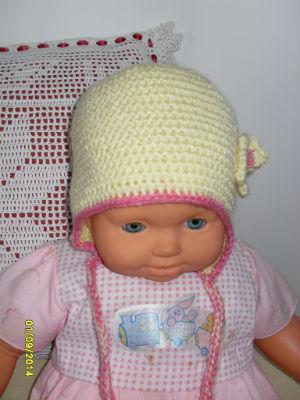 bonnet jaune petite fille