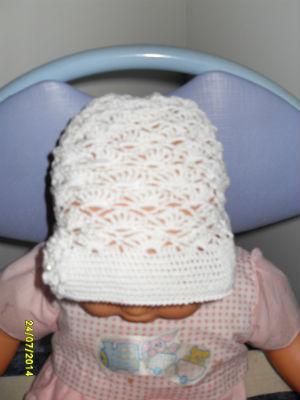 bonnet baptême 2 ans
