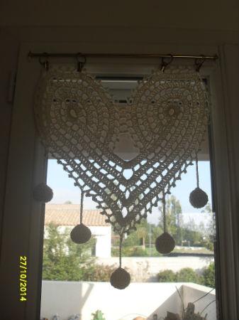 rideaux coeur